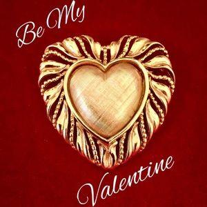 Napier Large Heart Brooch Valentine